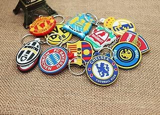 AG Goodies 12pcs Football Club Soccer Team Logo PVC Pendant Keychains Keyring Party Favors Goodie Bag Fillers