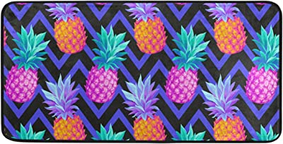 Tropical Pineapple Kitchen Long Mat Area Rug Non-Slip Anti Fatigue Comfort Floor Mat Waterproof Perfect Carpet for Kitchen 39 x 20 2030418
