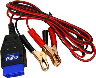 AUTOOL BT50 coche OBD2 ECU emergencia m/ás ligero poder cigarrillo bater/ía del cable de la herramienta