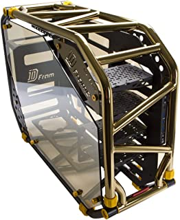 InWin D-Frame 2.0 BK/GO Gold/Black Motorcycle Steel Tube ATX Full Tower Case Includes SII-1065W Power Supply Cases.