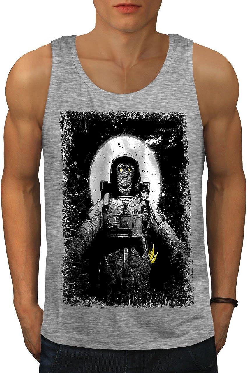 wellcoda Space Monkey Moon Mens Tank Athlete Top Shi Planet Ape Opening large release sale Louisville-Jefferson County Mall