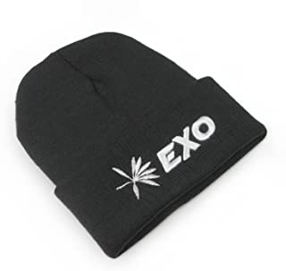 Kpop Logo Beanie 3D Embroidery Knit Beanie hat with lomo Cards