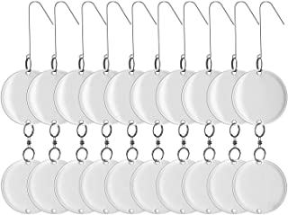 Reflective Bird Repellent Scare Discs (10-PC with 20 Large Disks) - Keep Birds Away, Repel Woodpeckers, Pigeons, Grackles. Better than Netting, Decoy Owl, Spikes Scarecrows or Tape