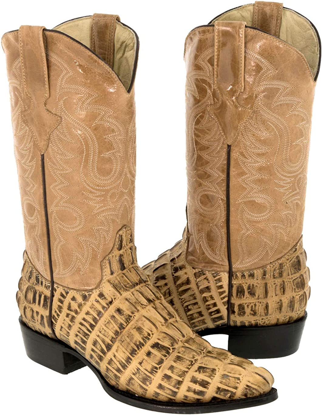 Mens Rustic Sand Western Cowboy Tail Leath Crocodile Louisville-Jefferson Super special price County Mall Print Boots