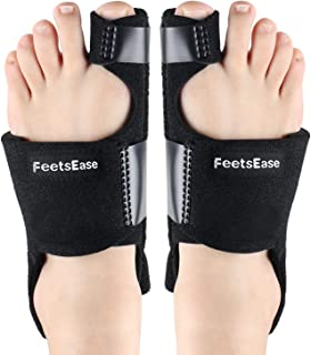 Bunion Corrector & Bunion Splint for Big Toe Relief as Aid Surgery Kit for Hallux Valgus Toe Straightener, Fits Women & Men for Night Use by FeetsEase