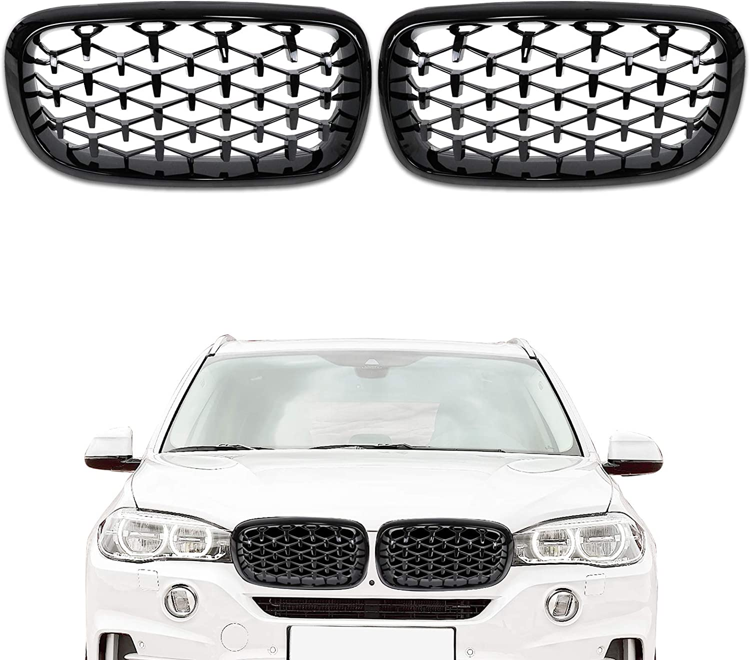 DSISIMO Gloss Max 41% OFF Black Diamond Star-shaped Kidney Mesh Grille Fashion Front