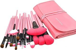 Afunti® 24Pcs Set de Brochas de maquillaje Kit de pinceles cepillos cosméticos profesional + Bolsa (Rosa)