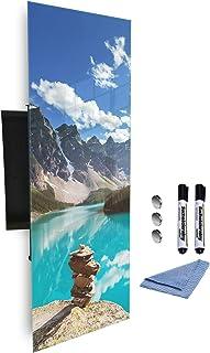 Boîte à clés 80 x 30 cm avec façade en verre magnétique 345142280