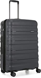 Antler Juno 2 4W Medium Roller Suitcase Hardside, Charcoal, 68cm