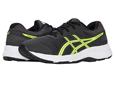 ASICS Kids GEL-Contend 6 (Little Kid/Big Kid) (Graphite Grey/Safety Yellow) Boy