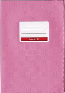 Brunnen Baier & Schneider - Sobrecubierta para libros y cuadernos tamaño A4, 21,5 x 30,7 cm, color rosa