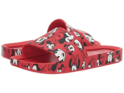 Mini Melissa Mel Beach Slide Mickey and Friends (Little Kid/Big Kid) (Red/Minnie) Girl