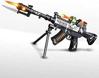 """ArtCreativity Special Forces Toy Machine Gun with LEDs, Sound & Bayonet 