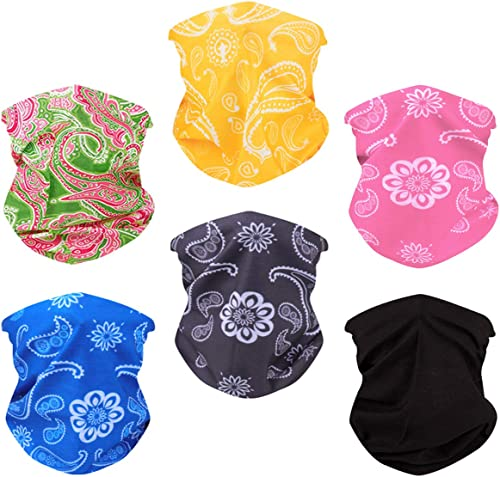 Toes Home 6PCS Outdoor Magic Headband Elastic Seamless Bandana Scarf UV Resistence Sport Headwear Boho Series for Yog...