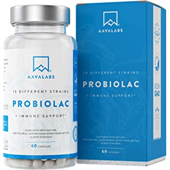 Fermenti Lattici Probiotici [ 30 Miliardi ] - 60 Capsule - 15 Formule ad Ampio Spettro di Ceppi Prebiotici - tra cui Lactobacillus Acidophilus e Bifidobacterium - Supporta il Sistema Immunitario
