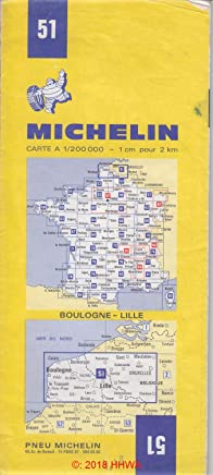 Michelin Calais/Lille/Bruxelles, France Map No. 51 (Michelin Maps & Atlases) by Michelin Travel Publications (2000-04-01)