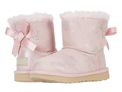 UGG Kids Mini Bailey Bow II Shimmer (Toddler/Little Kid) (Pink Cloud) Girls Shoes