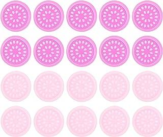 Minkissy 100Pcs Wimper Lijm Houder Valse Lash Lijm Houder Lade Roze Bloem Vorm Lijm Opslag Trays Wimper Enten Extension Pa...