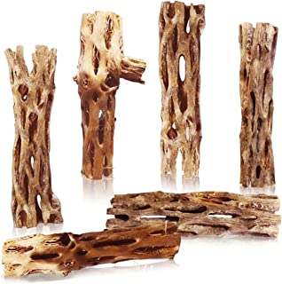 SunGrow Cholla Wood, Aquarium Decoration and Chew Toys for Small Pets, Artistic Home-Decor, Added Nutrition, Long Lasting ...