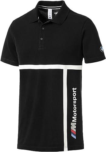 BMW Motorsport Polo noir, XL, Noir, X-grand Homme