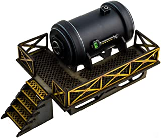 War World Gaming Industry of War - Tanque de Combustible Escala - 28mm, Wargaming, Wargames, Miniaturas, Escenografía Miniatura, Modelismo, Sci-Fi, Maquetas, Dioramas, Envío con Seguimiento