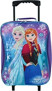 """Frozen Elsa & Anna 15"""" Collapsible Wheeled Pilot Case - Rolling Luggage"""