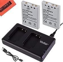 BM Premium 2-Pack of EN-EL5 Batteries and USB Dual Battery Charger for Nikon Coolpix P80, P90, P100, P500, P510, P520, P530 Digital Camera