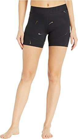 Pro All Over Print Metallic Swoosh Shorts 5 in.