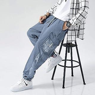 Jeans Plus Size Jeans Men Loose Streetwear Jeans Overalls Ankle Long Denim Trousers