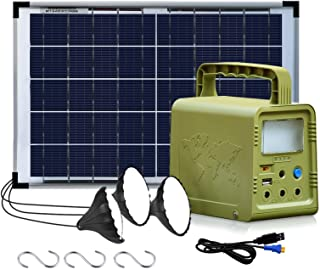 ECO-WORTHY 84Wh Portable Power Station, Solar Generator with 18W Solar Panel, Flashlights, Camp Lamps with Battery, USB DC...