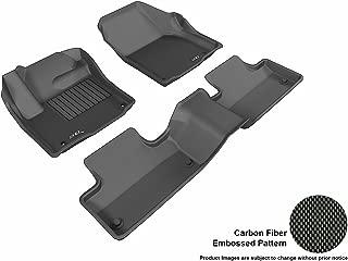 3D MAXpider L1LR01801509 Complete Set Custom Fit All-Weather Floor Mat for Select Land Rover Range Rover Evoque Models - Kagu Rubber (Black)