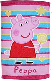 Peppa Pig 100/% algod/ón, 140 x 70 cm Toalla Oficial de Globos Color Morado