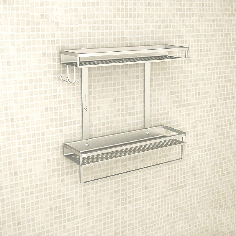 Bathroom New Free Shipping Corner Stand Space Shelf Aluminum Toilet Ranking TOP18