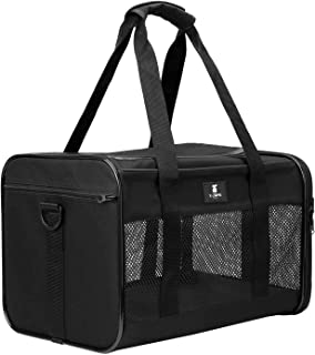X-ZONE PET Airline Approved Soft-Sided Pet Travel Carrier for Dogs and Cats, Medium Cats Small Cats Carrier,Dog Carrier fo...