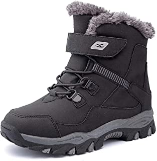 GUBARUN Boys Snow Boots Kids Hiking Boots Warm Shoes Slip Resistant Warterproof