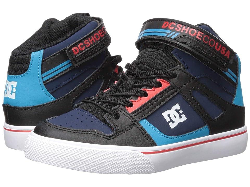 DC Kids Pure High-Top EV (Little Kid/Big Kid) (Blue/Black/Red) Boys Shoes