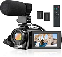 """Camcorder Video Camera for YouTube, Vlogging Camera Recorder Full HD 1080P 30FPS 24MP 16X Zoom 3"""" 270° Rotation Screen Dig..."""
