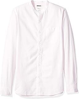 Goodthreads Men's Slim-Fit Long-Sleeve Band-Collar Oxford Shirt