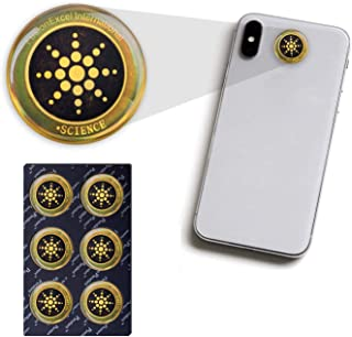 EMF Radiation Stickers, Premium Family 6 Pack Cell Phone Radiation Protector Shield Remove Absorbs Waves Radiation Blocker...