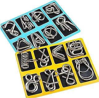 LXHDKDT Ensemble de Puzzles en métal pour Adultes Neuf Anneaux Ensemble de Liens Jeu Puzzle Chinois Adulte Casse-tête Jouet