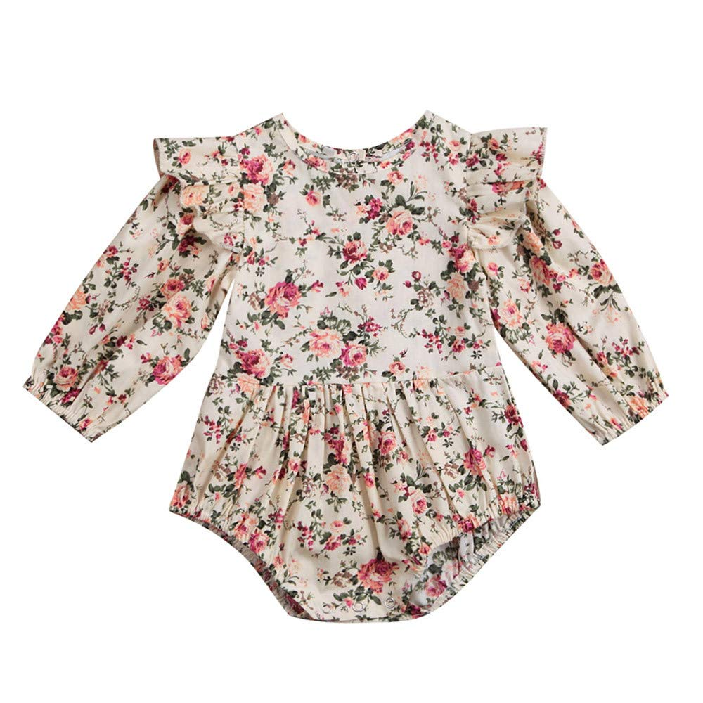 Overdose Baby Girls Floral Sleeveless Jumpsuit Outfits 18-24 Months, Z-1