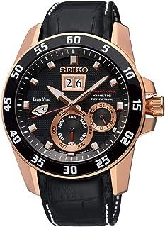 Seiko - Reloj Analógico para Hombre de Kinetico con Correa en Cuero SNP056P1