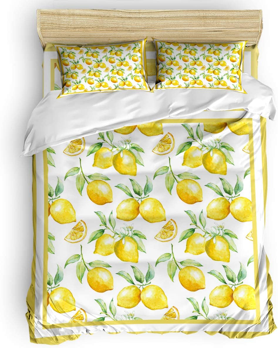 Yellow Floral Duvet Covers Twin Size Bedding 4 Sets Incl Pieces Fresno Mall Challenge the lowest price of Japan ☆