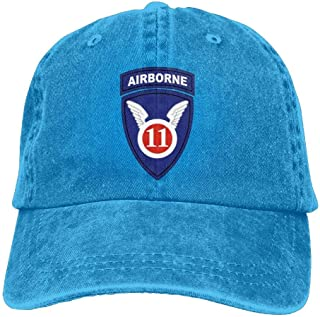 Army 11th Airborne Division Plain Baseball Cap Washed Dad Hat Outdoor Caps 4ca8d005e4e8