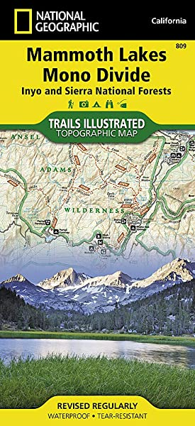 Mammoth Lakes Mono Divide Inyo And Sierra National Forests National Geographic Trails Illustrated Map 809