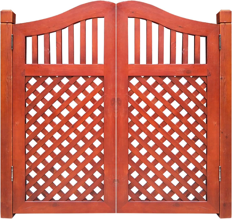 Household items Puertas batientes de Madera Maciza para Interiores y Exteriores Puerta giratoria de Doble Apertura, Puerta de Entrada de jardín Resistente a la Intemperie, Puerta de cafetería
