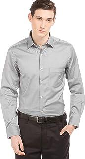 Arrow Men's Plain Regular Fit Formal Shirt, Grey