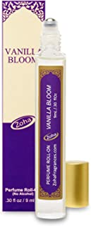 Vanilla Bloom Perfume Oil Roll-On (No Alcohol) - Essential Oils and Clean Beauty Perfumes for Women and Men by Zoha Fragrances, 9 ml / 0.30 fl Oz