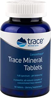 CONCENTRACE Trace Mineral Tablets 90 tab. PH Buffer, Magnesium, Ionic, Vegan, Gluten Free, Hydration, Electrolyte, Magnesi...
