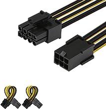 J&D 2 Paquetes 6 Pin a 8 Pin PCI Express (PCIe) Tarjeta de Vídeo Adaptador Cable de Alimentación - 10cm